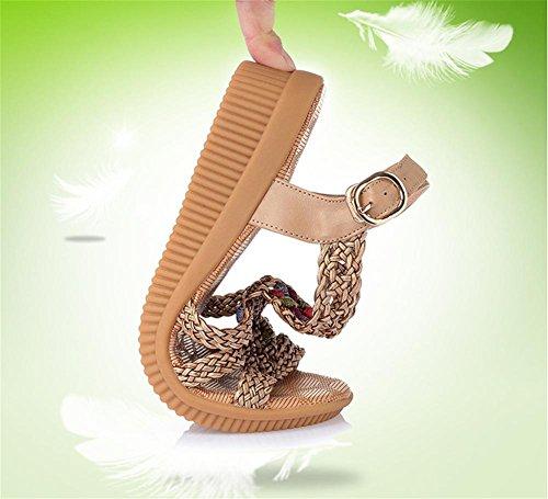 pengweiSandali femminili casuali di estate pendono con le scarpe delle signore di grande formato