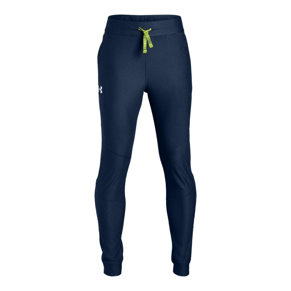 Under Armour Boys' Prototype Pants, Academy//White, Youth X-Small by Under Armour
