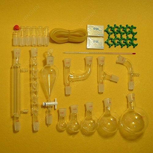 NANSHIN Glassware,new advanced organic chemistry lab glassware kit 24/29-29pcs,lab glassware kit