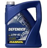 MANNOL 10256600500 Defender 10W40 SL/ CF - Aceite semisintético para motor, 5 l