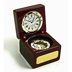 Nautical Clock - Navigator Clock & Compass - Coastal
