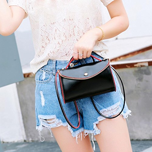 Mini Handle Black Women Top Bags Leather Lavany Bag Handbag Soft Shoulder PU Cluthes RHxqtSaw