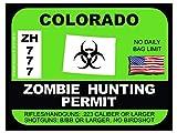 Colorado Zombie Hunting Permit (Bumper Sticker)
