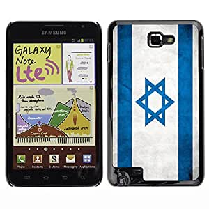 Shell-Star ( National Flag Series-Israel ) Snap On Hard Protective Case For Galaxy Note / i717 / T879 / N7000 / i9220