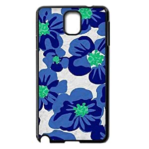 Blue Flowers Brand New Cover Case for Samsung Galaxy Note 3 N9000,diy case cover ygtg611890