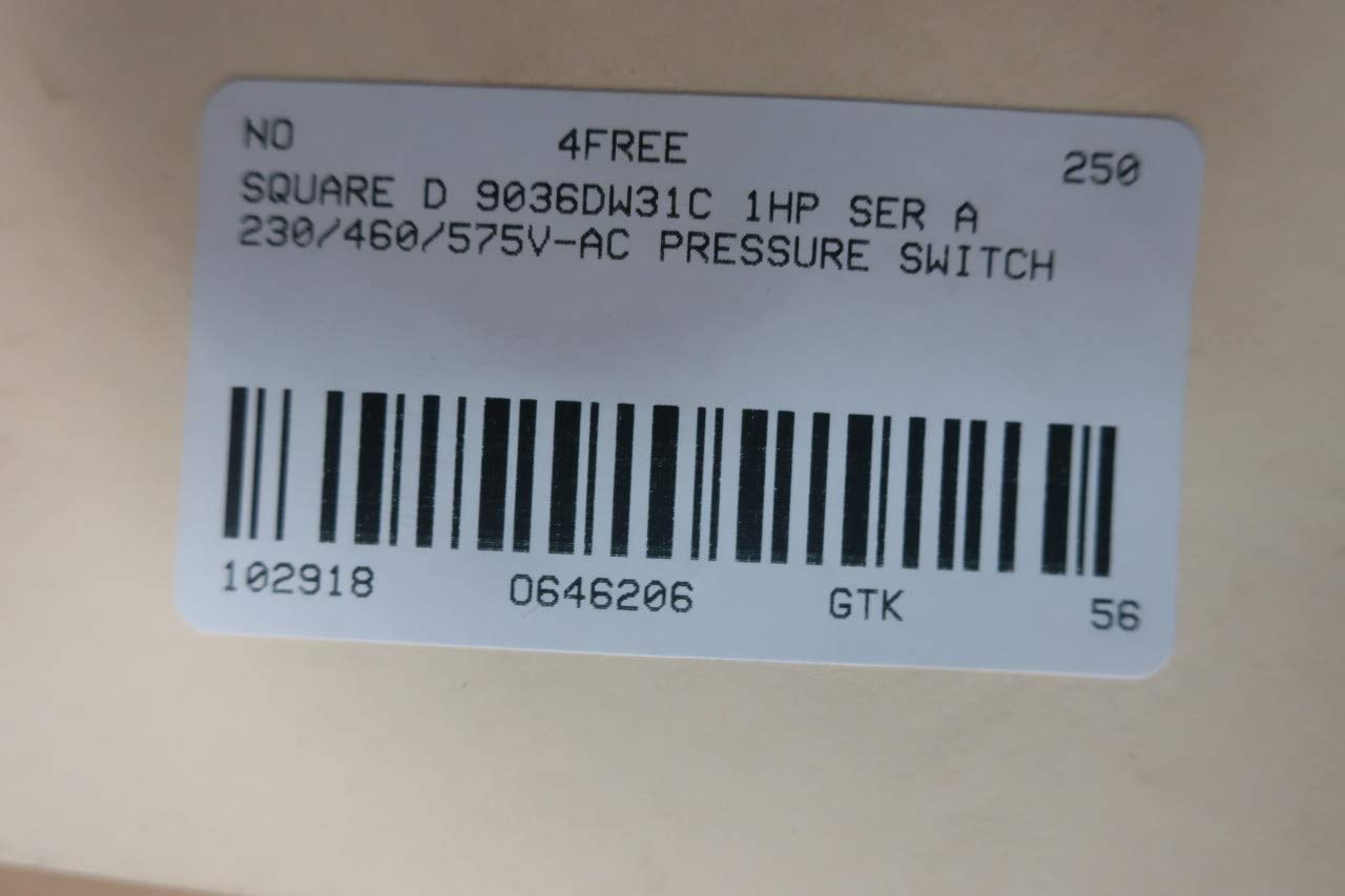 Amazon.com: SQUARE D 9036DW31C Float Switch 230/460V-AC D646206: Industrial & Scientific