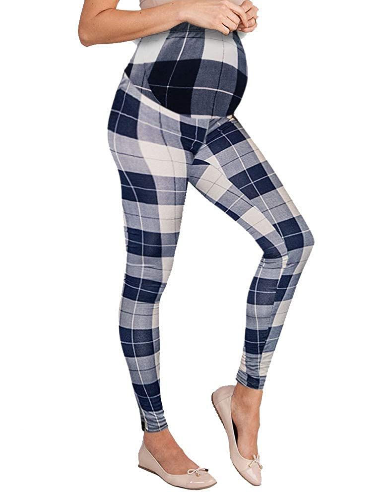 10686navytaupe Hybrid & Company Women's Super Comfy Maternity Leggings Made in USA