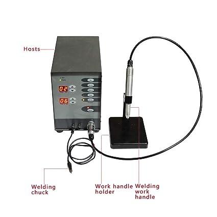 Vogvigo Máquina de Soldadura Láser de Punto de Acero Inoxidable Control Numérico Automático Pulso Pulso Argón Soldadora de Arco para Soldadura Joyería: ...