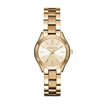 96d8a40133c9 Amazon.com  Michael Kors Women s Mini Slim Runway Gold-Tone Watch MK3512  Michael  Kors  Watches