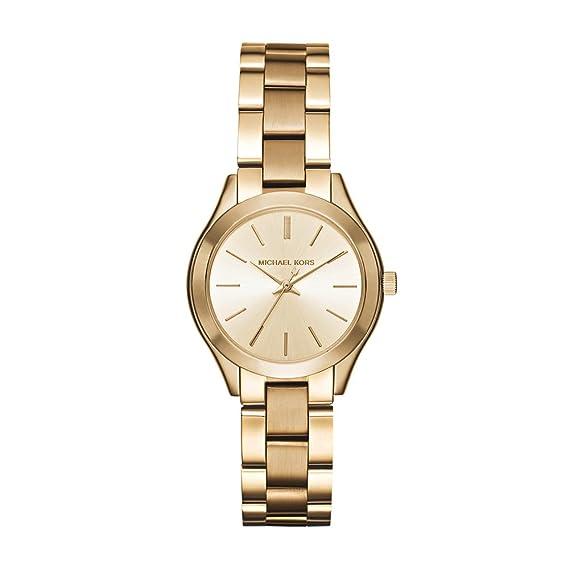717bf3141af5 Michael Kors Women s MK3512 - Mini Slim Runway Gold  Michael Kors   Amazon.ca  Watches