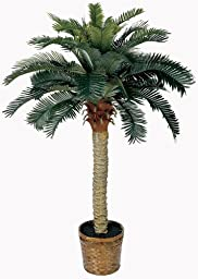 Nearly Natural 5043 Sago Silk Palm Tree, 4-Feet, Green