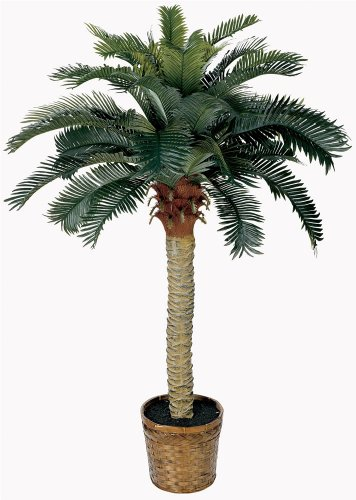 4' Palm Green - Nearly Natural 5043 Sago Silk Palm Tree, 4-Feet, Green