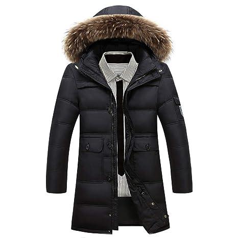 UnChaqueta Larga Abajo Hombre Grueso Cálido Casual Abajo Collar Abrigos de Nieve de Invierno Hombres Abrigo