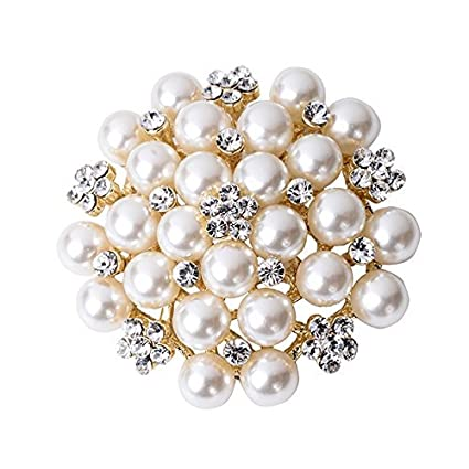 Pearl Napkin Rings Set of 4, Beaded Bulk Wedding Party Holiday Thanksgiving Christmas Everyday Home Table Decoration Accessory Adornment Elehere ELEKBH2017051201S