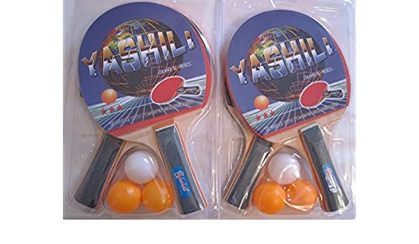 Juego de raquetas de tenis de mesa 6 pelotas y 4 - Raqueta de ...