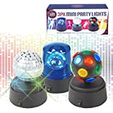 Global Gizmos Pack of 3 Battery Operated Mini Disco Party Fun Lights