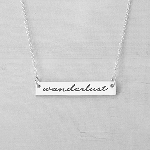 Wanderlust Necklace, Motivation Necklace, Adventure Necklace, Inspirational Necklace, The Mountains Are Calling And I Must Go