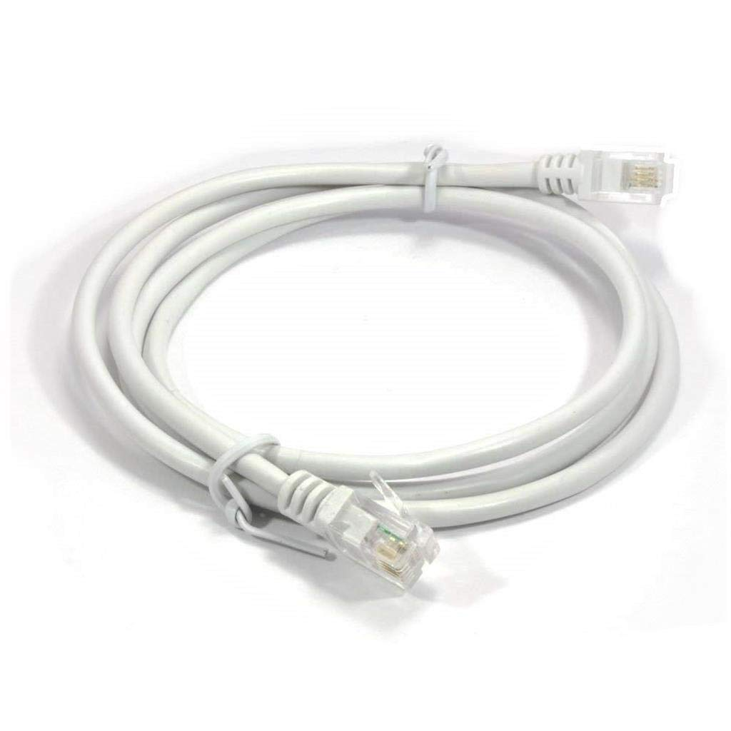 High Speed Broadband Modem Cable RJ11 to RJ11 WHITE 10m ADSL 2