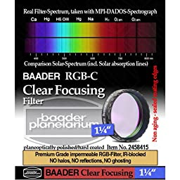 Baader Planetarium Clear Focusing Filter 1 1/4\