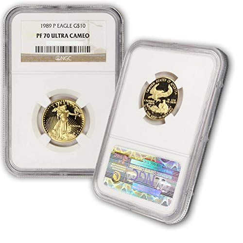 1989 P 1/4oz American Gold Eagle Proof Coin G$10 PF70UCAM NGC ()