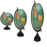 Child Room DecorGlobe Decorative Rotating Globe World Table Decor Earth Green Ocean Geography Office Decoration
