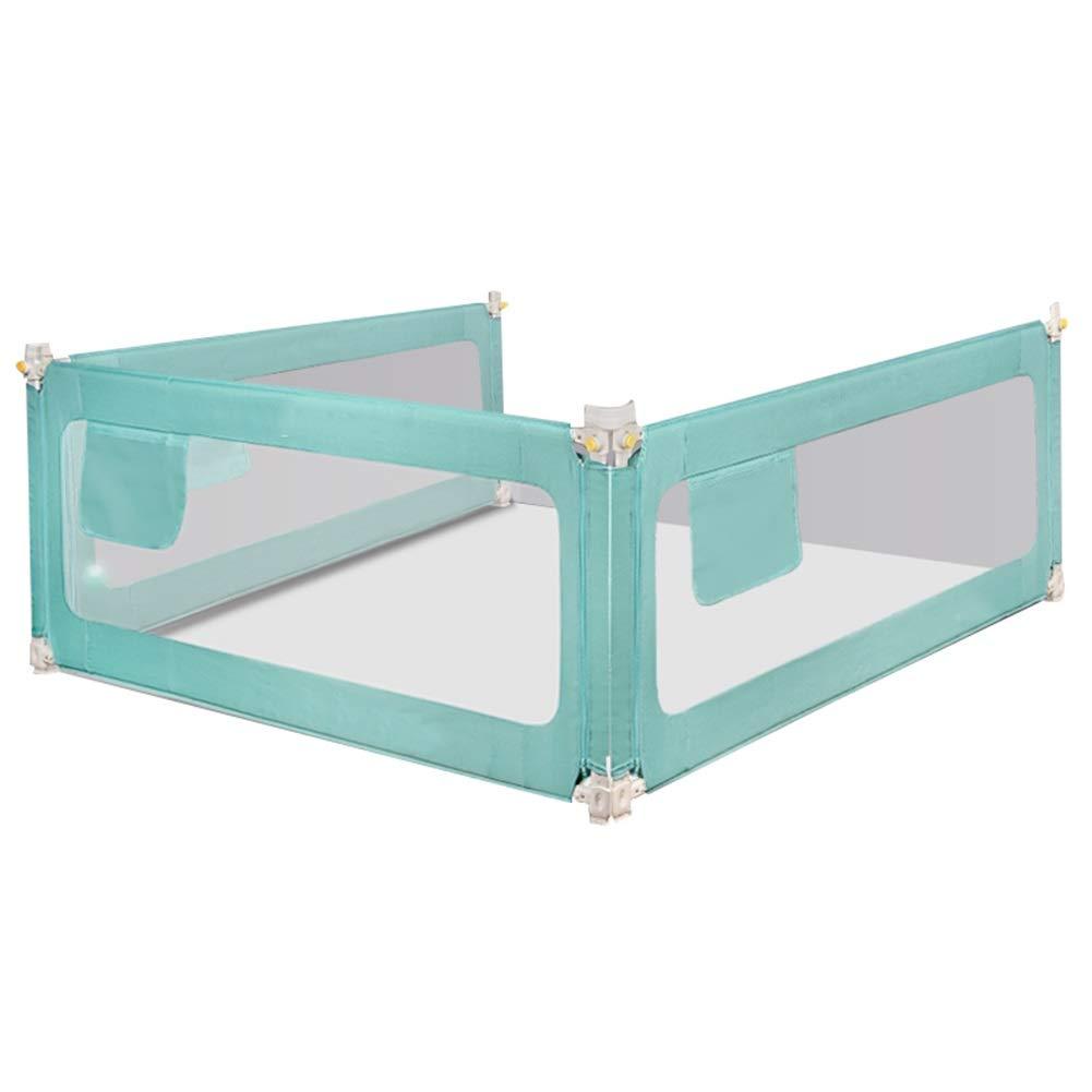 WHAIYAO ベッドレールシームレスステッチ縦折りクイーンベッド用安全で丈夫 2色2サイズ (Color : Green, Size : 200+200+180CM) 200+200+180CM Green B07TP3SNBY