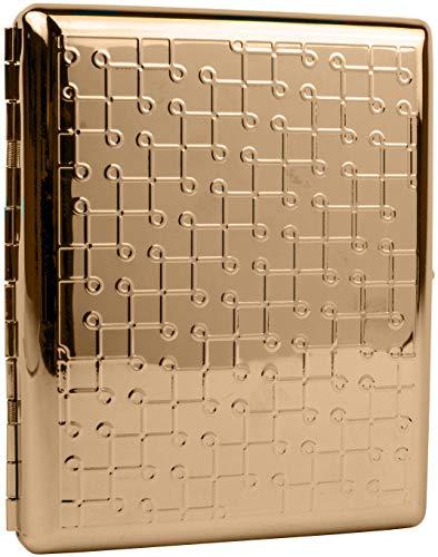 (Rose Gold Loops (Full Pack 100s) Metal-Plated Cigarette Case & Stash)
