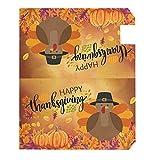Wamika Happy Thanksgiving Day Turkey Pumpkin