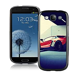Popular And Unique Custom Designed Case For Samsung Galaxy S3 I9300 With Lamborghini Red Back View Black Phone Case