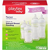 Playtex Baby Nurser Baby Bottle with Drop-Ins Disposable Liners, Closer to Br...