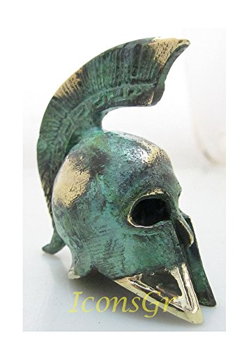 Ancient Greek Bronze Museum Replica of Spartan Officer Helmet (Bronze Greek Helmet)