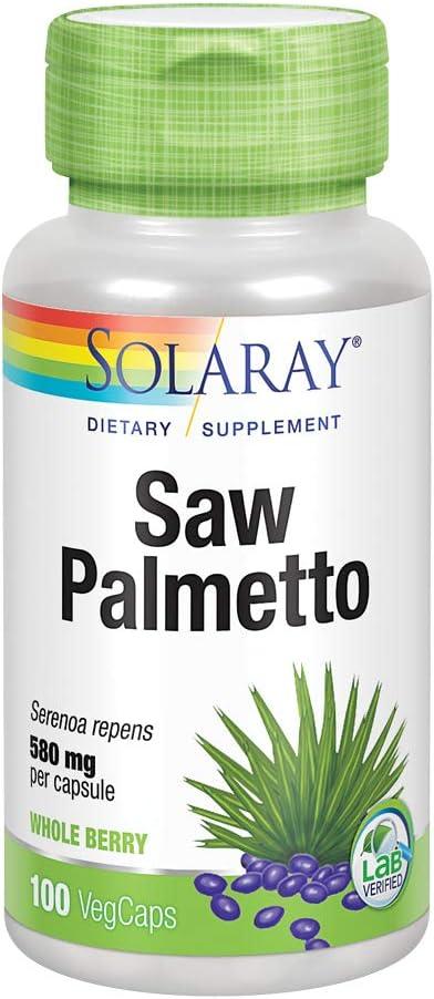 Solaray Saw Palmetto Berry 580mg | 100 VegCaps