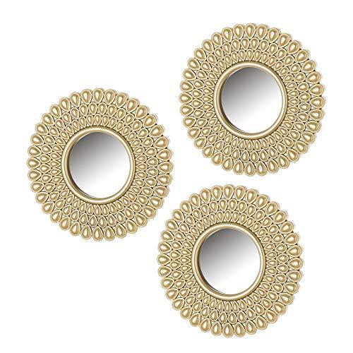 Set de Espejos arabescos exotico Dorado de Polipropileno de ø 25 cm - LOLAhome