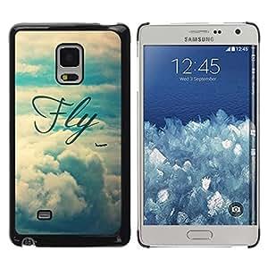 TopCaseStore / la caja del caucho duro de la cubierta de protección de la piel - Vignette Text Sky - Samsung Galaxy Mega 5.8 9150 9152