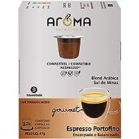 Aroma Selezione Cápsulas de Café Espresso Portofino Aroma, Compatível com Nespresso, Contém 10 Cápsulas