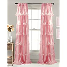 Lush Decor Nerina Window Curtain, 84 by 54-Inch, Pink