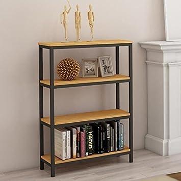 LEON Etagere meuble style industriel en métal époxy noir + plateau ...