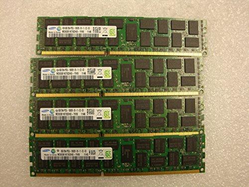 Samsung 32GB 4x8GB 2RX4 PC3L 10600R DDR3 ECC REG Server Memory M393B1K70DH0-YH9