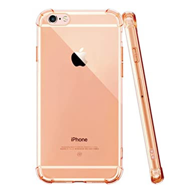 783f5970477 iPhone 6S Plus Case OTHWAY Soft Silicone TPU Clear Transparent Case  Cover Shock Absorption  Anti-scratch  Diamond Colour  (Gold)  Amazon.co.uk   Electronics