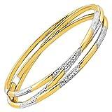 Triple Interlocking Bangle Bracelets in 14K Gold-Bonded Sterling Silver