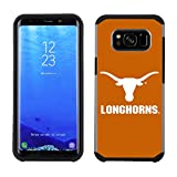 Prime Brands Group Textured Team Color Cell Phone Case for Samsung Galaxy S8 Plus - NCAA Licensed University of Texas Longhorns