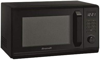BRANDT Noir Cavit/é /énamelite S/écurit/é Enfant 6 Auto programmes Micro-ondes Gril Electronique 23L D/épart rapide 1000W