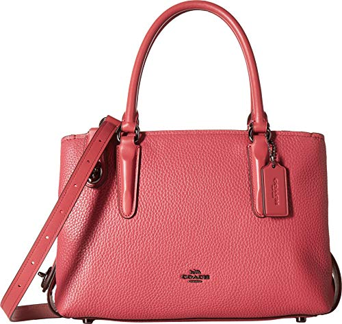 (COACH Women's Pebbled Brooklyn 28 Carryall Dark/Rouge One Size )