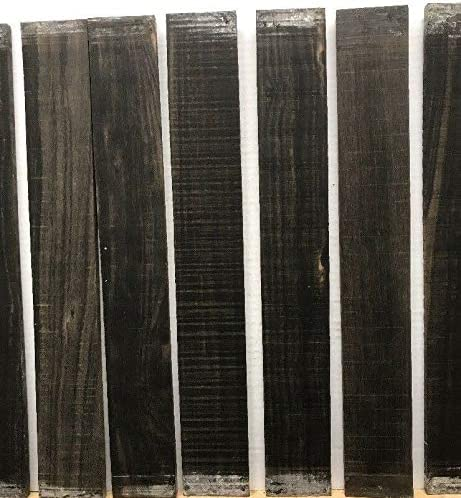 LOT of 10 Wood Blank Lumber Wood Turning GABOON Ebony Guitar//LUTHIER//Fingerboard Blank 21 10
