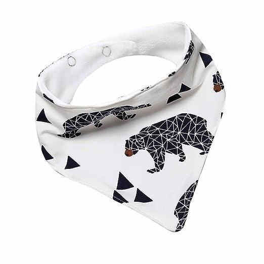 Amazon.com  Baby Boy Girl Bandana Thick Bibs Fox Banana Bear Fish Cotton  Burp Cloth  Clothing 6310bb5a658b