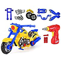 CoolToys Custom Take-A-Part Motorcycle Playset - Motorcycle with Electric Play Drill and Modification Pieces