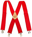 McGuire-Nicholas 110C 2-Inch Wide Red Suspenders