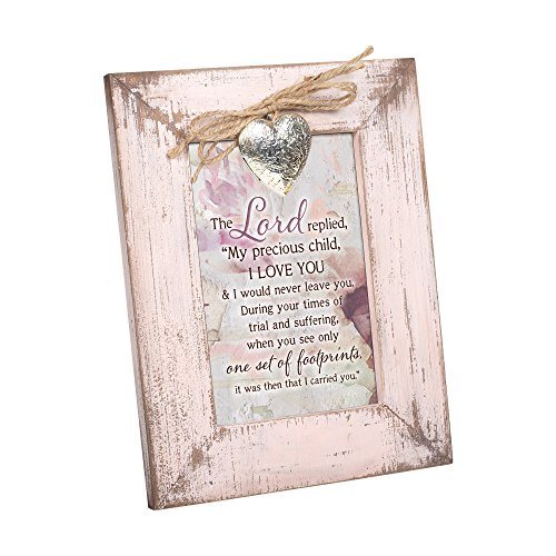 Cottage Garden Faith Hope Greatest Is Love Blush Pink Distressed Locket Easel Back Picture Frame from Cottage Garden