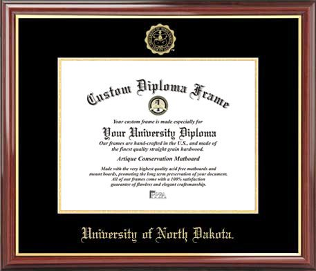 Amazon.com : University of North Dakota - Embossed Seal - Mahogany ...