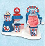 A complete Frozen treat factory is now available in your home. Both kids and parents will love to make their own fresh and healthy Frozen treats anytime they want. The set comes complete with the base to organize your ice float components; ice machin...